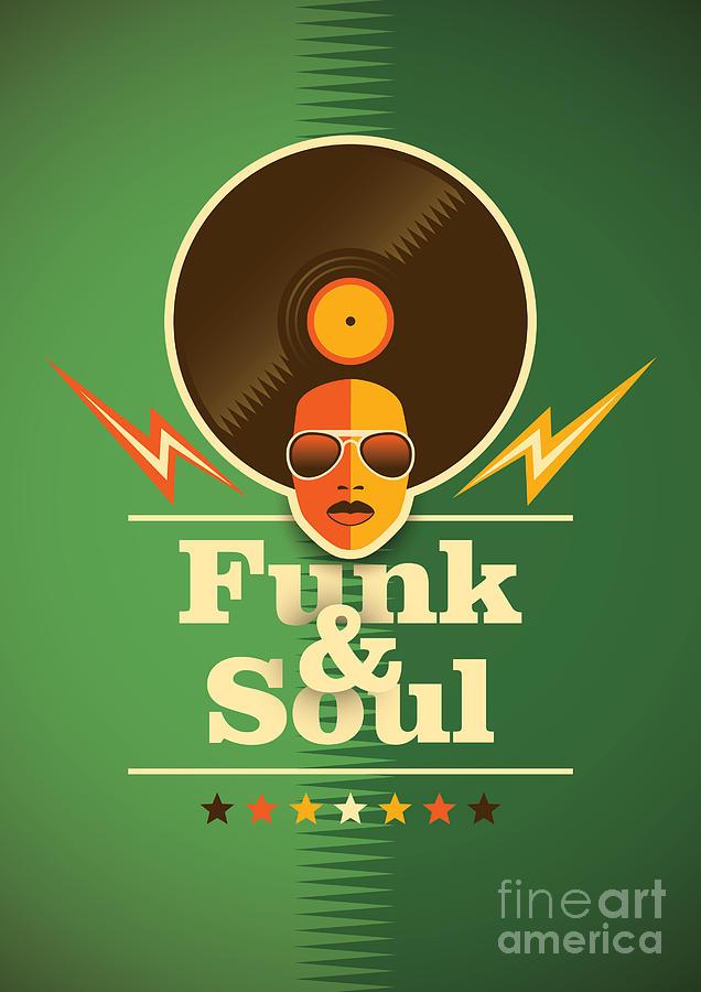 Symbol Digital Art - Funk And Soul Poster. Vector by Radoman Durkovic