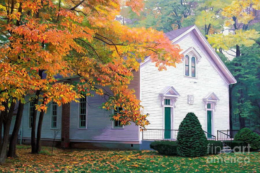 Funk's Grove Church by Jackie Case