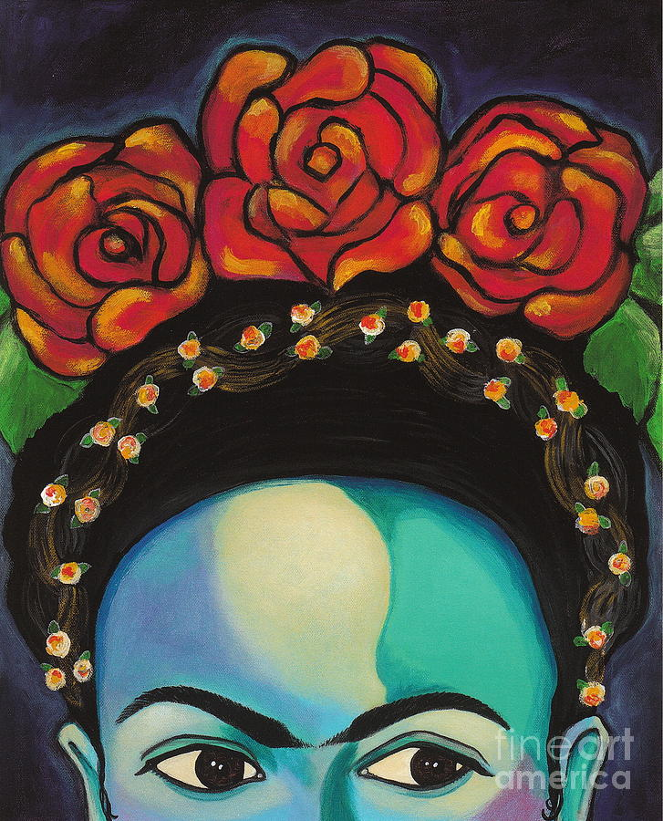Frida Painting - Funky Frida by Carla Bank