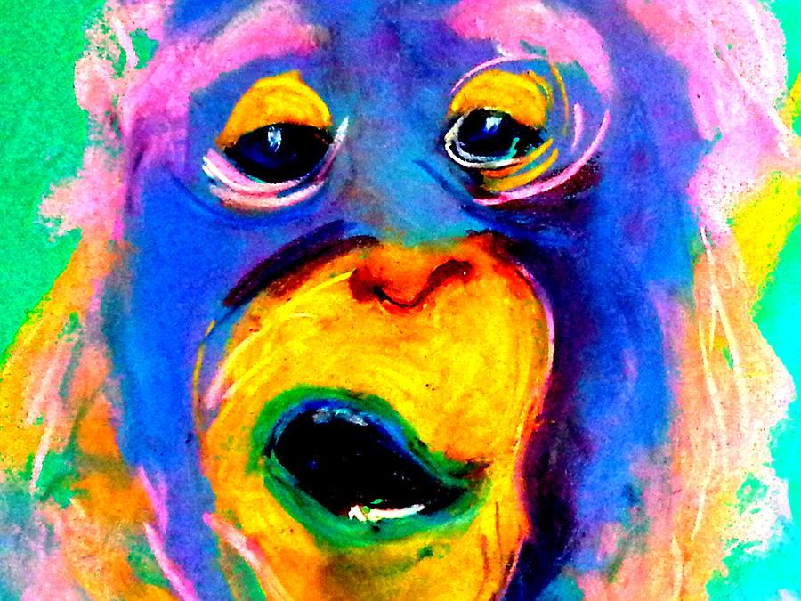 Funky Monkey Art Print by Sue Jacobi
