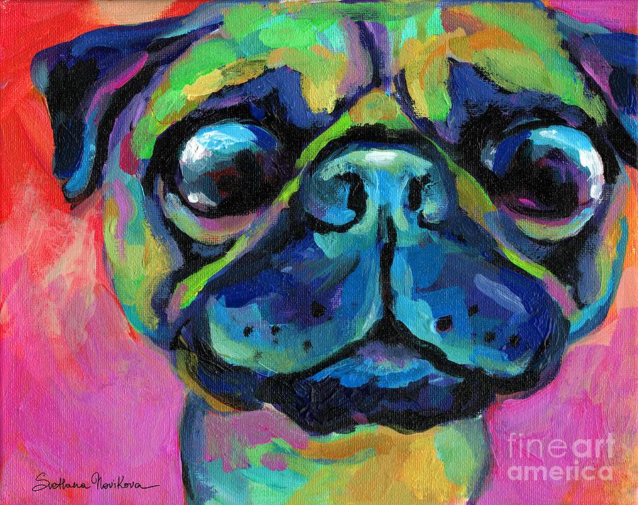 Funny bug eyed pug  by Svetlana Novikova