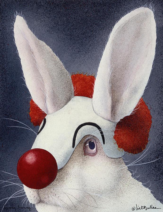 Will Bullas Painting - Funny Bunny... by Will Bullas