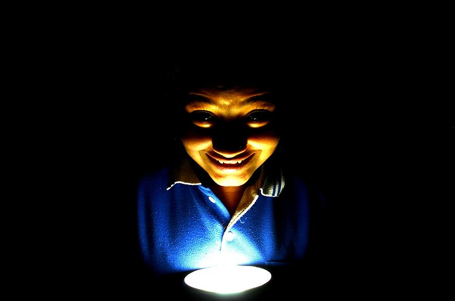 Dark Photograph - Funny Or Horrible  by Deepti Chahar