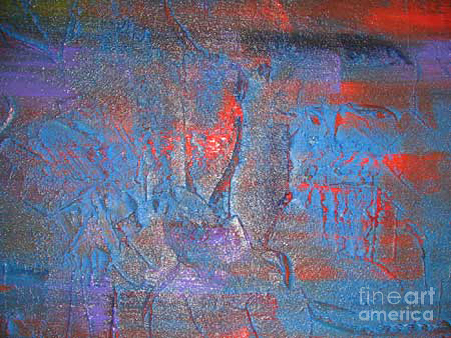 Abstract Painting - Funny Rain by Silvana Abel