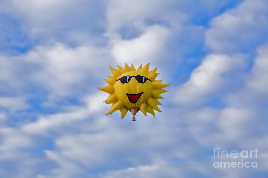 Funny Sunny Balloon Fac by Brenda Giasson