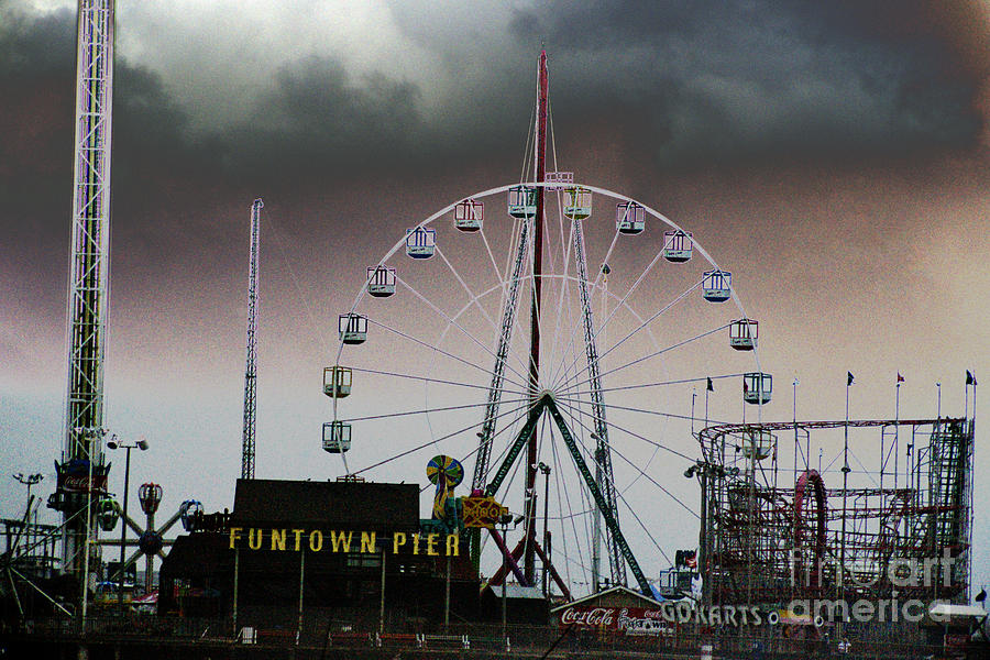 Roller Coaster Photograph - Funtown Pier by Kathy Flugrath Hicks