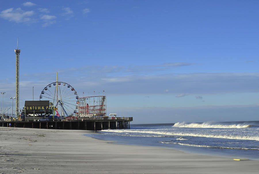 Seaside Heights Photograph - Funtown Pier Seaside Heights Nj Jersey Shore by Terry DeLuco