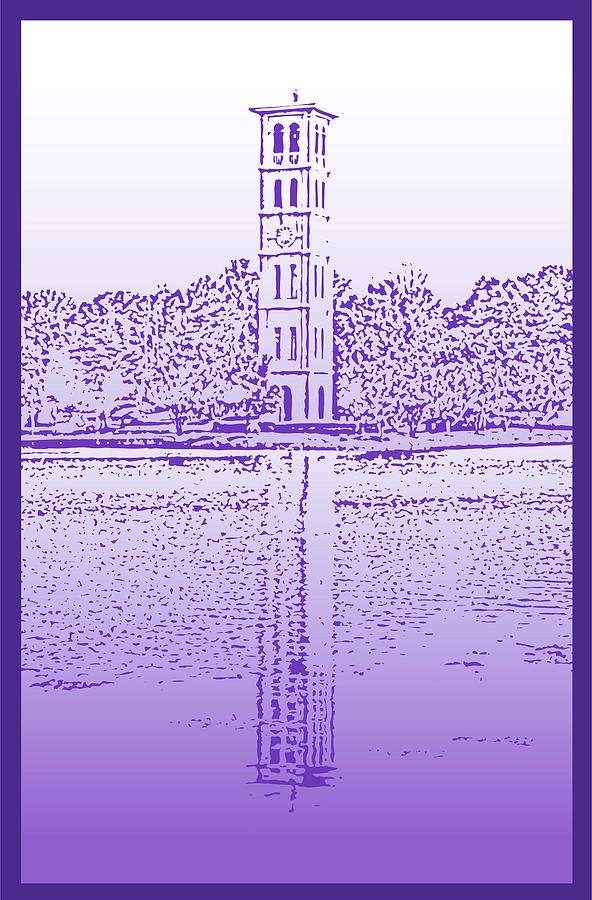 Furman Bell Tower Digital Art