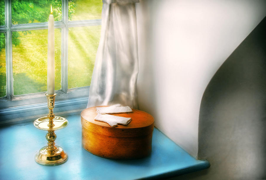 Savad Photograph - Furniture - Lamp - In The Window  by Mike Savad