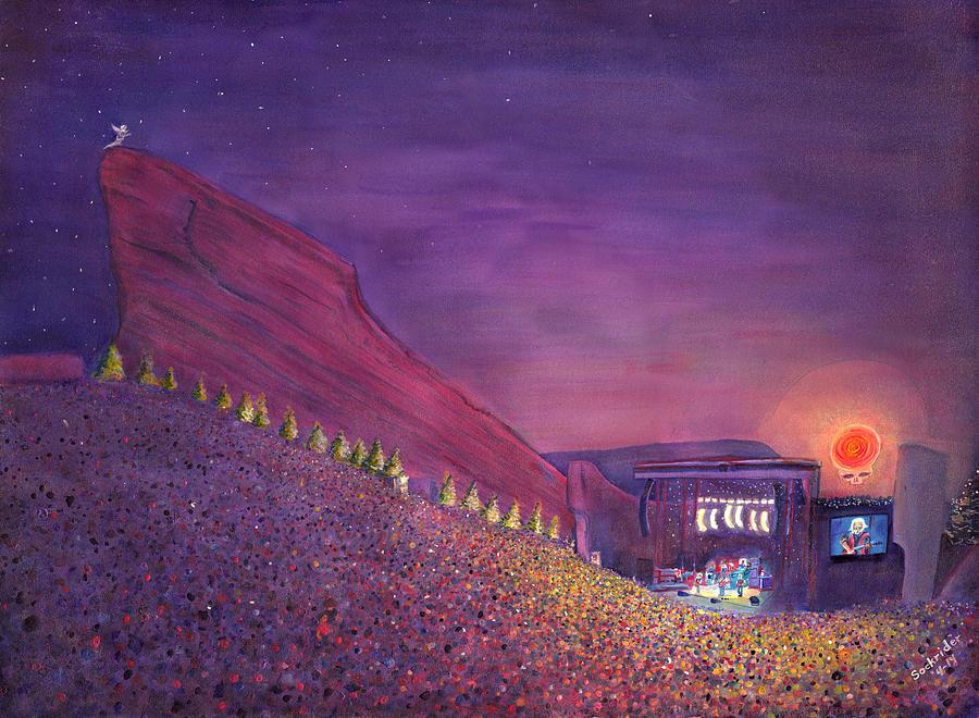 Furthur Painting - Furthur Red Rocks Equinox by David Sockrider