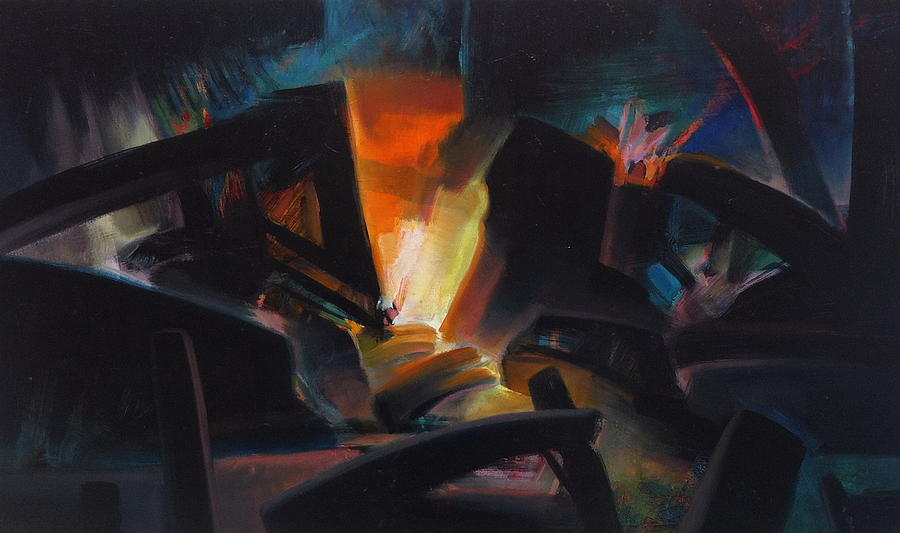 Abstract Painting - Fury by Ivan Tanev