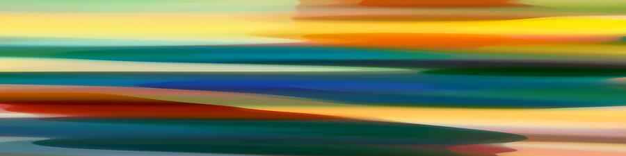 Bold Painting - Fury Seascape Panoramic 1 by Amy Vangsgard