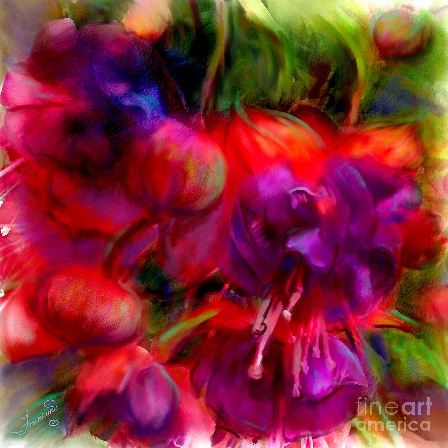 Fuschia Painting - Fuschia Excitement by Francine Dufour Jones