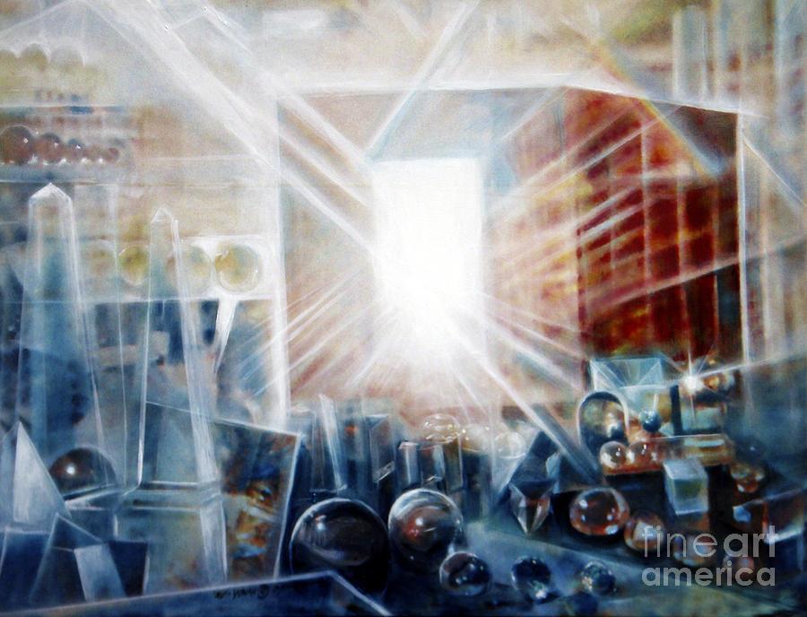 Jerusalem Painting - Future City #5 by Yael Avi-Yonah