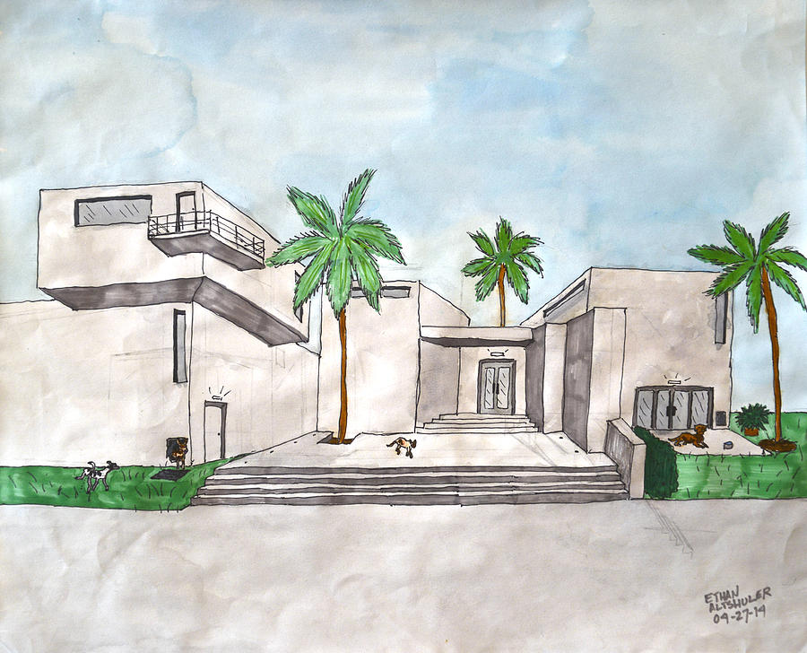 Architectural House  Painting by Ethan Altshuler