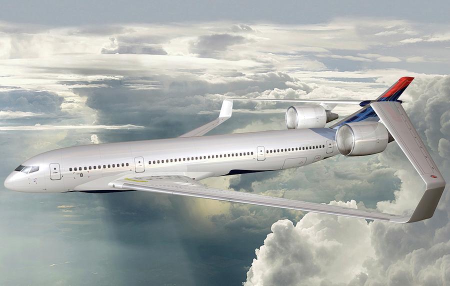 Aircraft Photograph - Future Hybrid Aircraft by Nasa/lockheed Martin