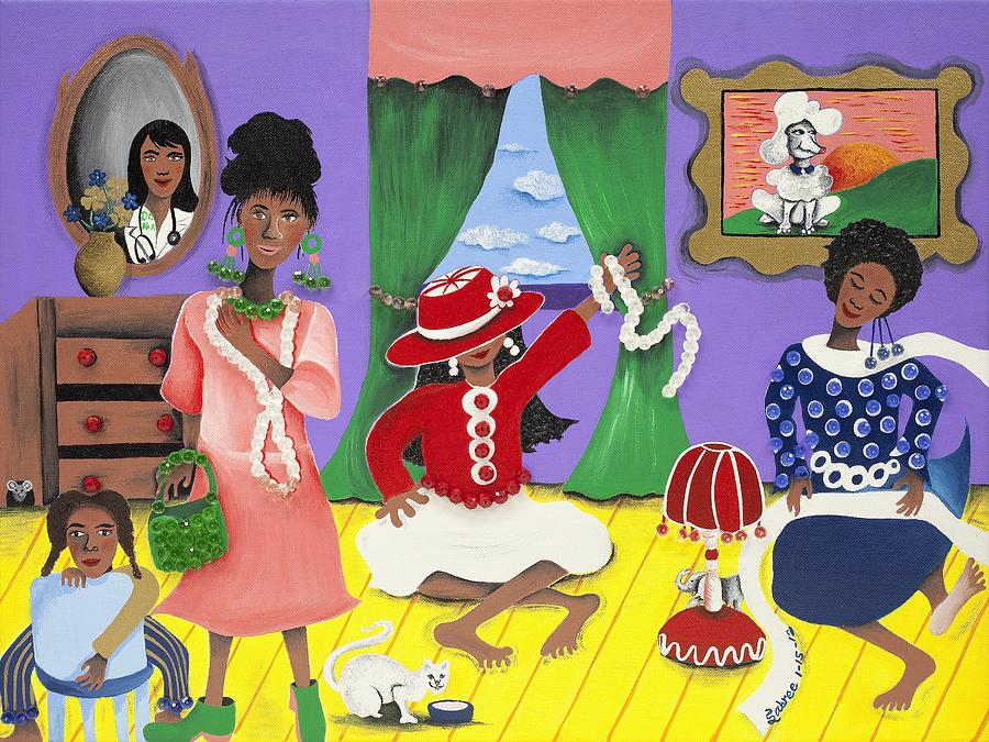Gullah Artist Painting - Future Reservations by Patricia Sabree