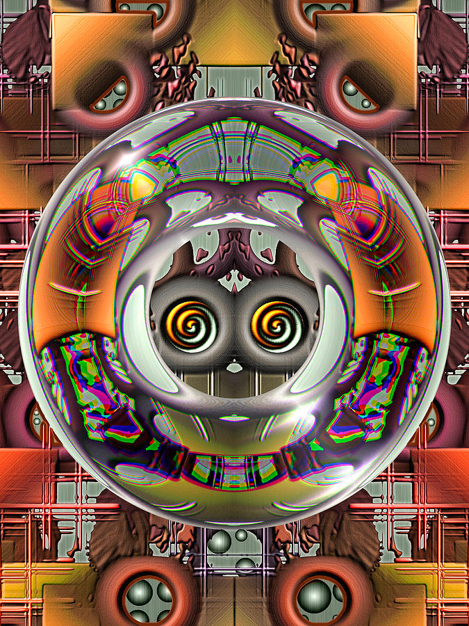 Abstract Digital Art - Future Retro by Wendy J St Christopher