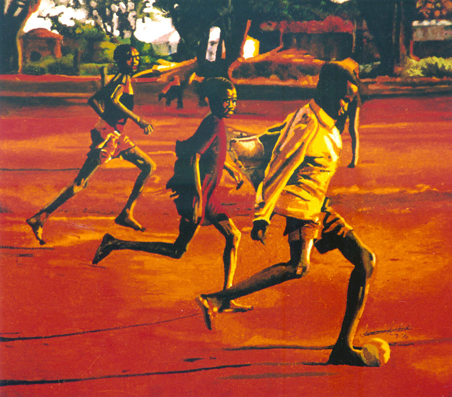 Africa Painting - Future Stars Of Fifa by Andre Ajibade