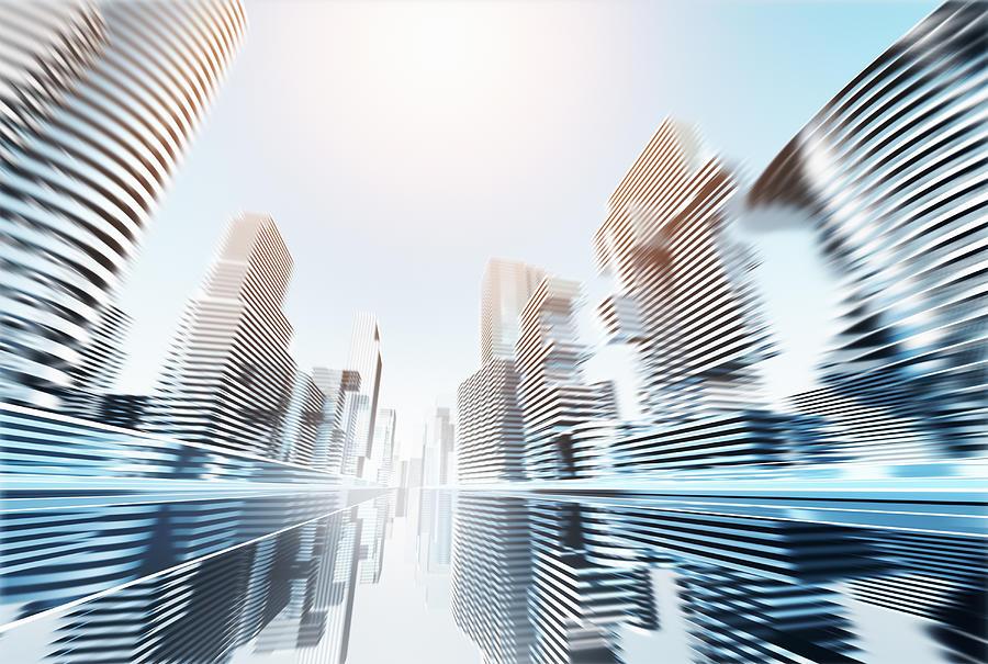 Futuristic Cityscape Digital Art by Jorg Greuel