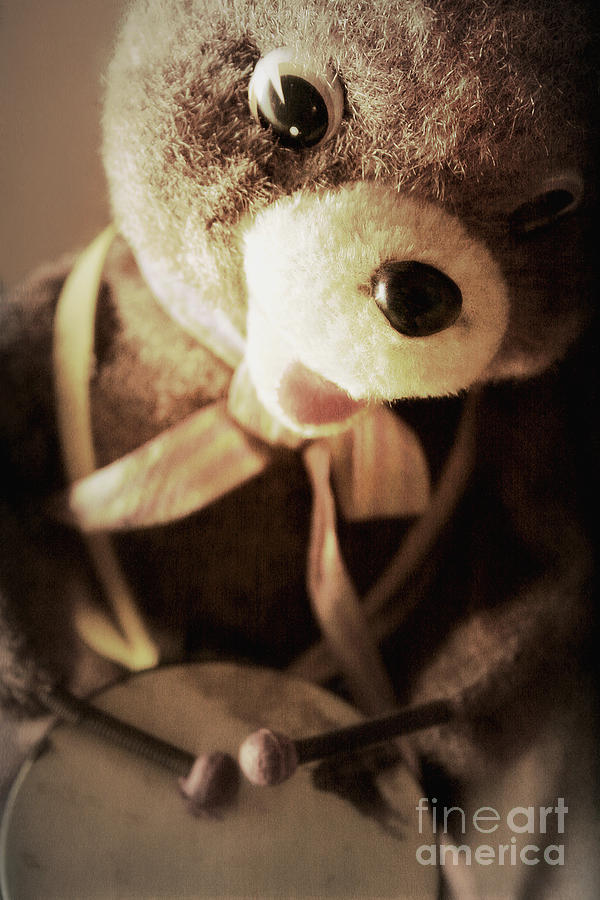 Bear Photograph - Fuzzy Drummer by Trish Mistric