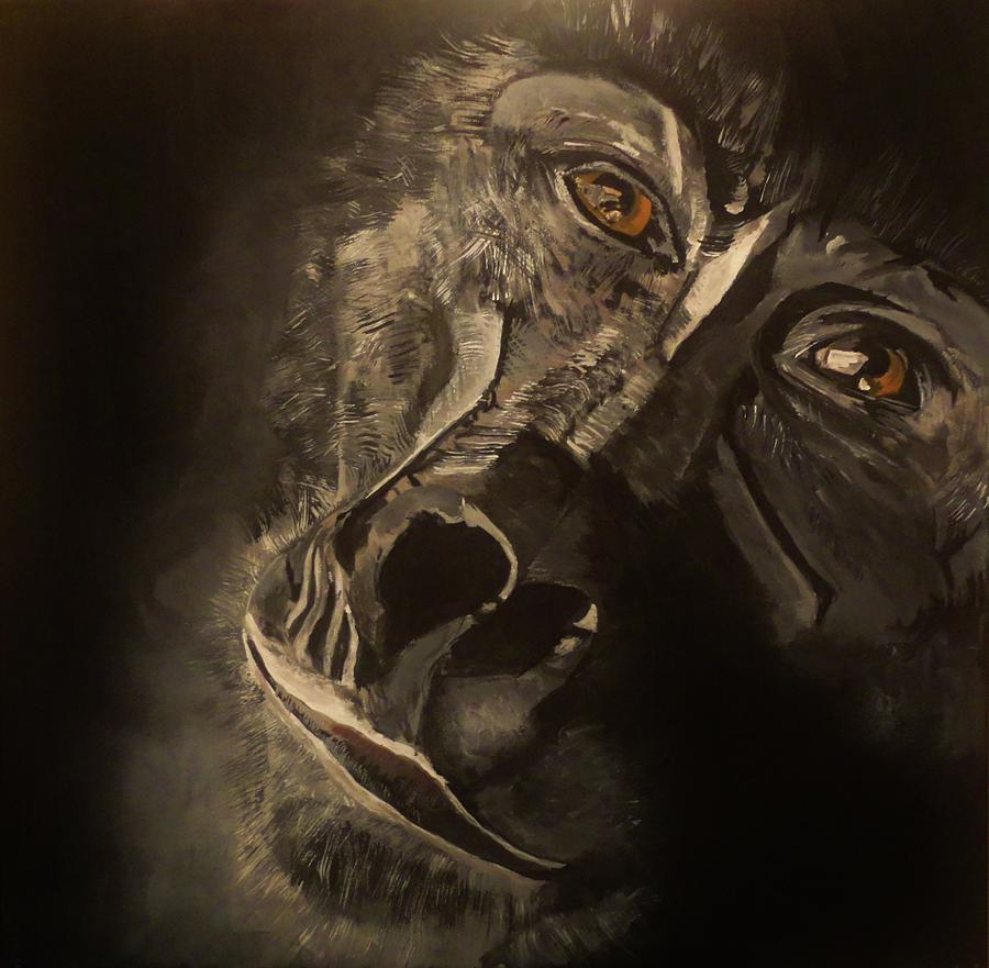 Gorilla Painting - G-1 by Michael Henzel