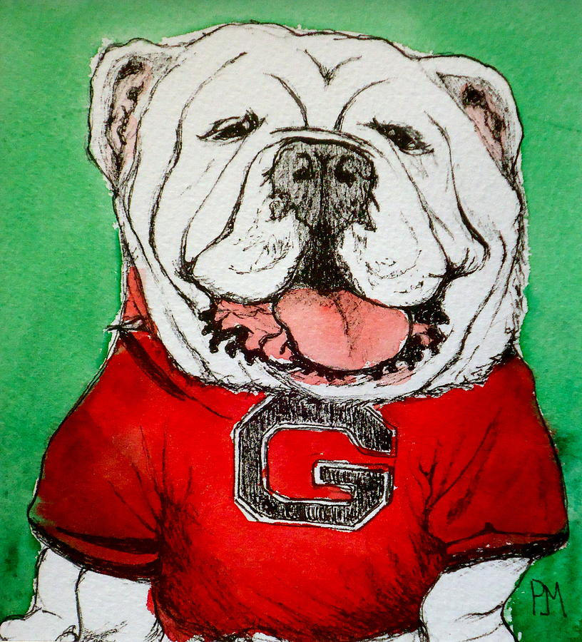 English Bulldog Painting - G Dawg by Pete Maier