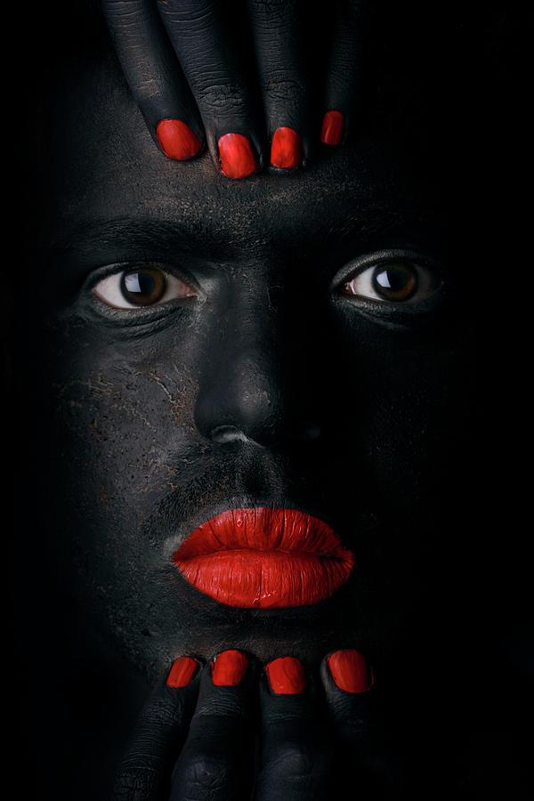Face Photograph - G L A N C E .. by Hesham Alhumaid