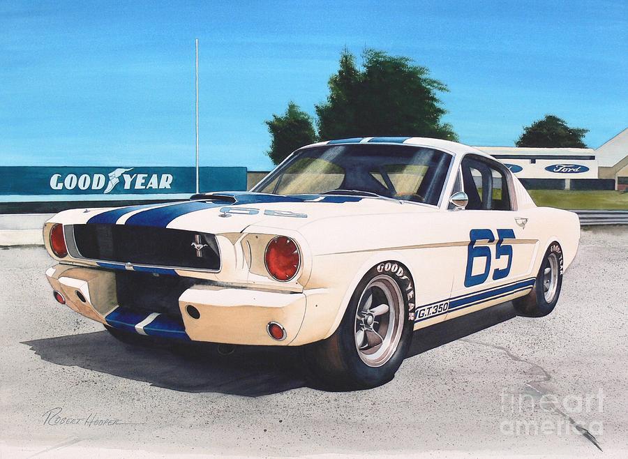 Watercolor Painting - G T 350 by Robert Hooper