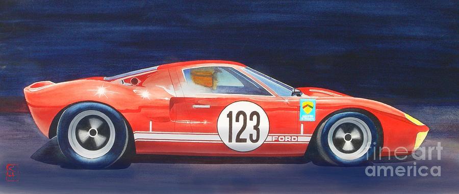 Watercolor Painting - G T 40 by Robert Hooper