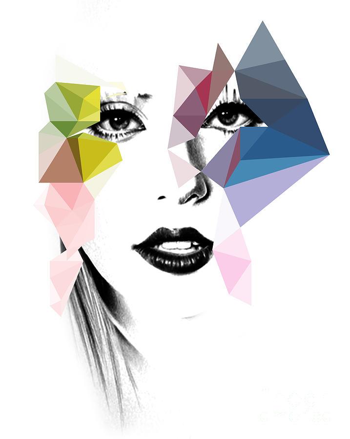 Lady Gaga Digital Art - Ga Ga by Mark Ashkenazi