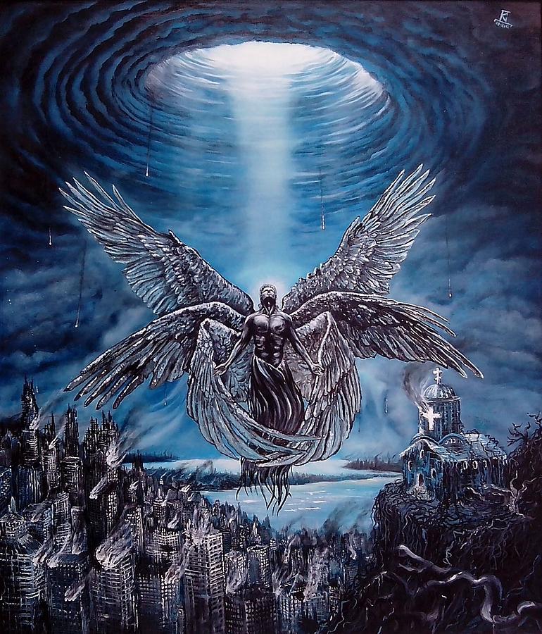 Sky Painting - Gabriels Trumpet by Dejan Krstic