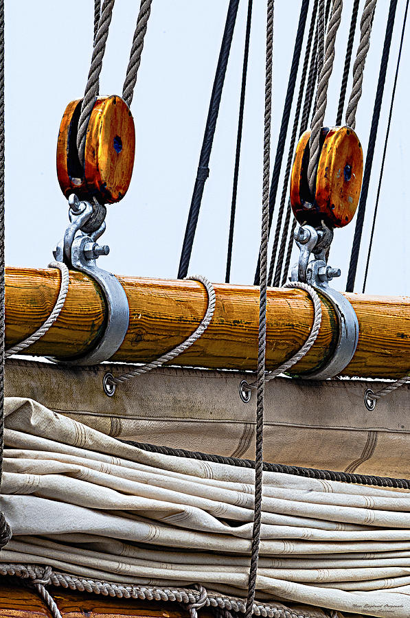 Schooner Photograph - Gaff And Mainsail by Marty Saccone