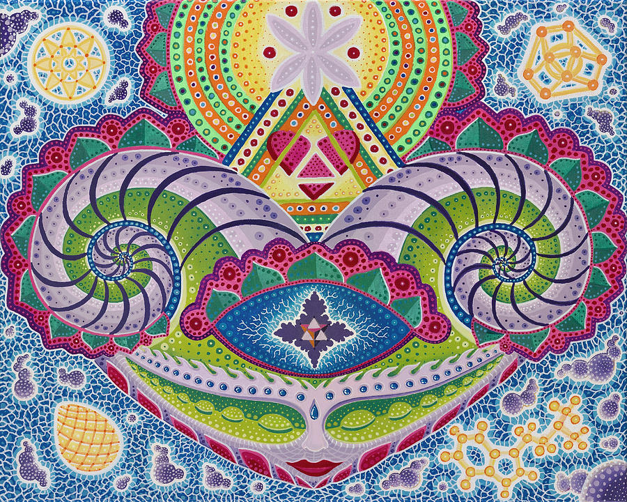 Sacred Geometry Paintings Painting - Gaian Mind by Christopher Sheehan