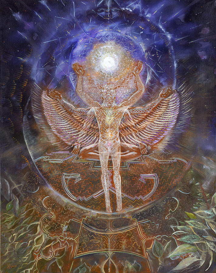 Visionary Painting - Gaiascension by Jerod  Kytah