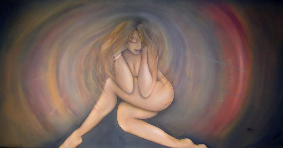 Woman Painting - Gaining Strength by Michelle Iglesias