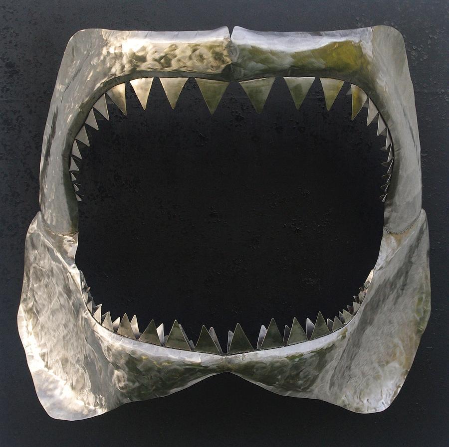 Shark Sculpture - Gaint Shark Jaw Sculpture by Stuart Peterman