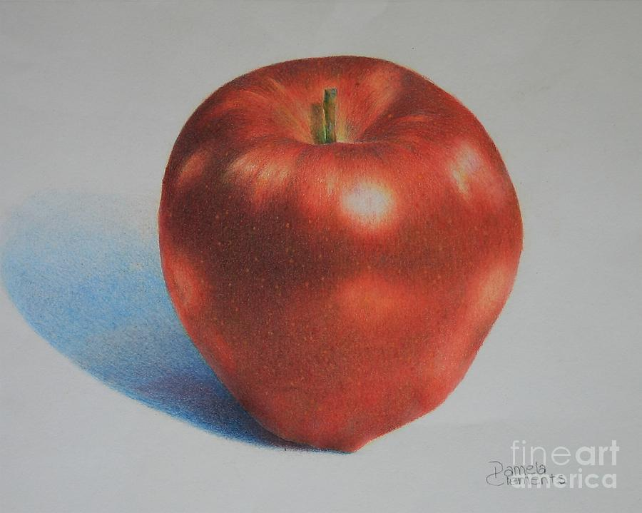 Apple Painting - Gala by Pamela Clements