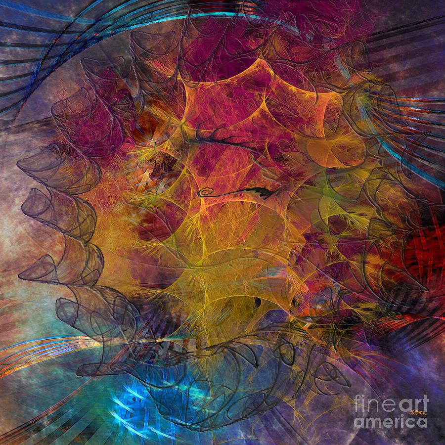 Abstracts Digital Art - Gala Sponsor - Square Version by John Beck