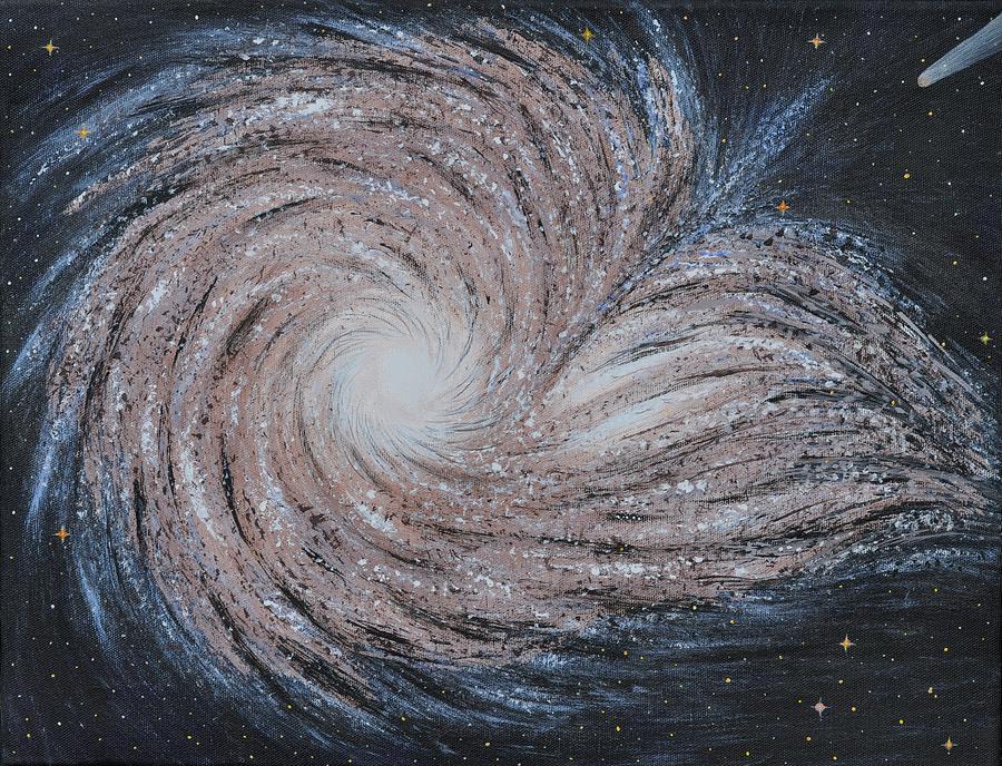 Sky Painting - Galactic Amazing Dance by Georgeta  Blanaru