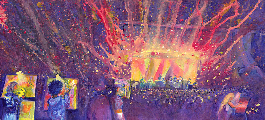 Galactic Painting - Galactic At Arise Music Festival by David Sockrider
