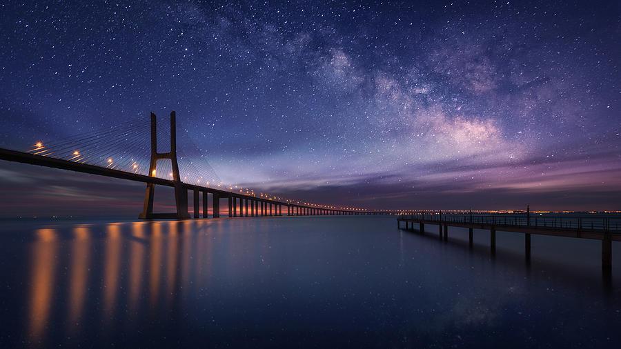 Galactic Bridge Photograph by Carlos F. Turienzo