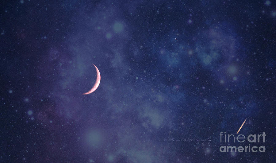 Moon Photograph - Galactic Show by Rima Biswas
