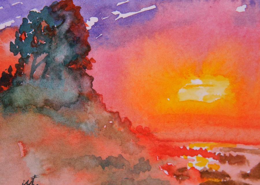 Galapagos Sunset Painting - Galapagos Sunset by Warren Thompson