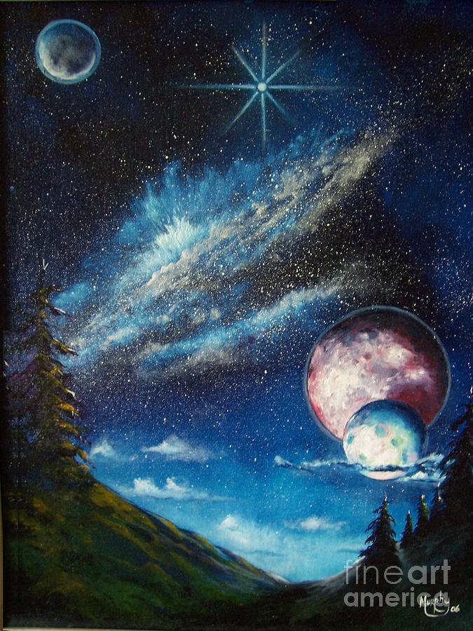 Landscape Painting - Galatic Horizon by Murphy Elliott