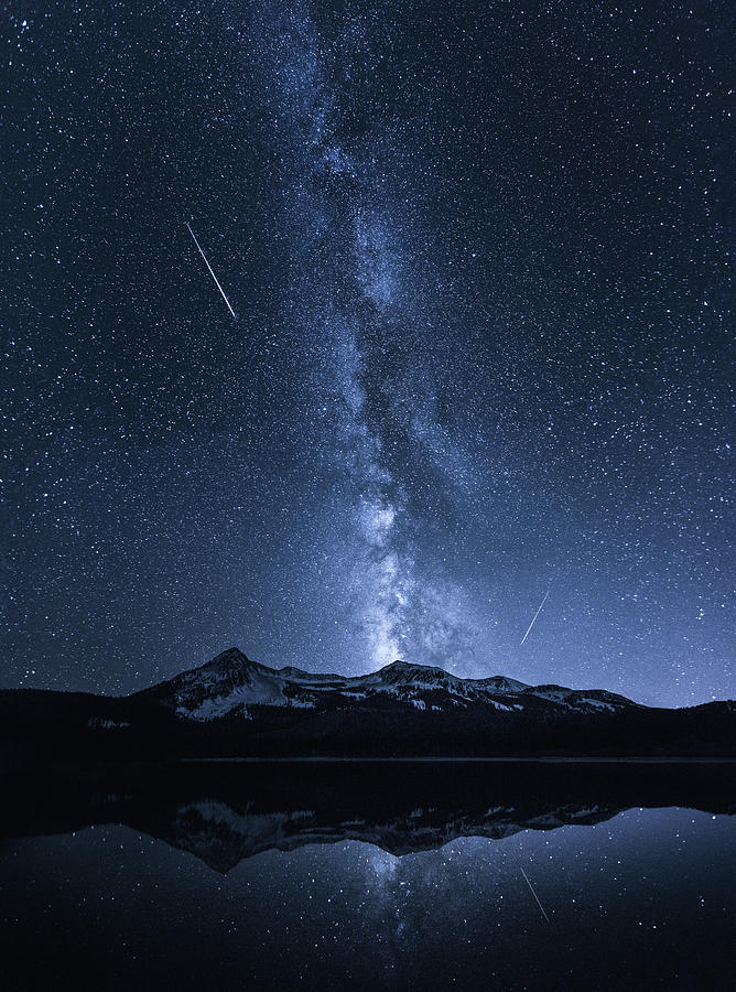 Colorado Photograph - Galaxies Reflection by Toby Harriman