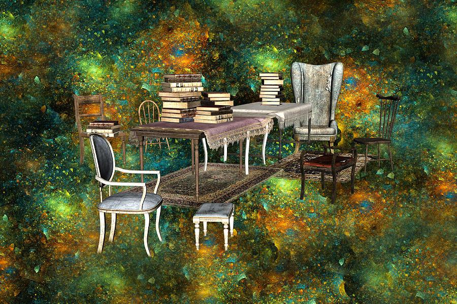 Fantasy Digital Art - Galaxy Booking by Betsy Knapp