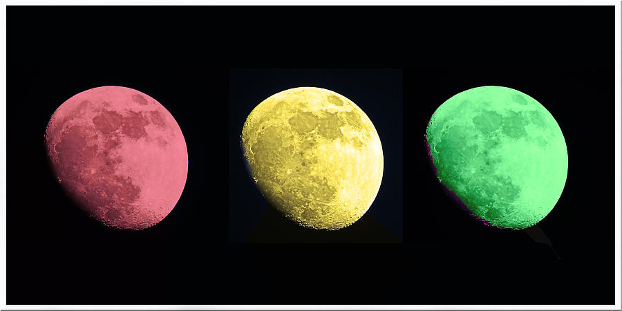 The Moon Photograph - Galaxy Stop Light by Tom Gari Gallery-Three-Photography