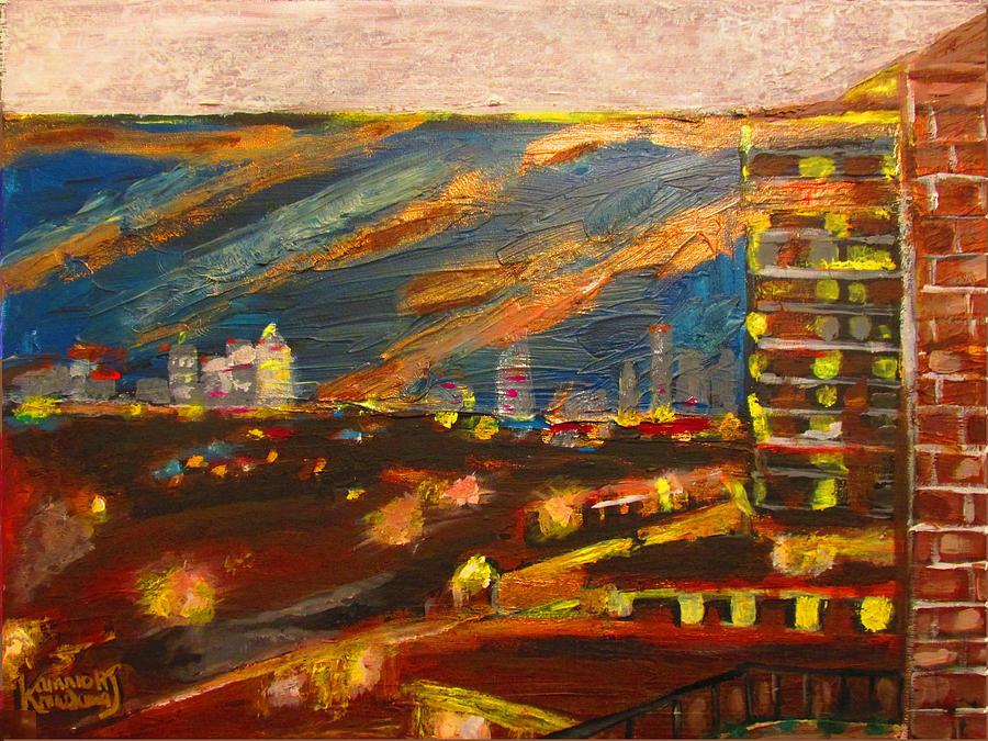 Plaistow Painting - Gale Force Night - Plaistow London by Mudiama Kammoh