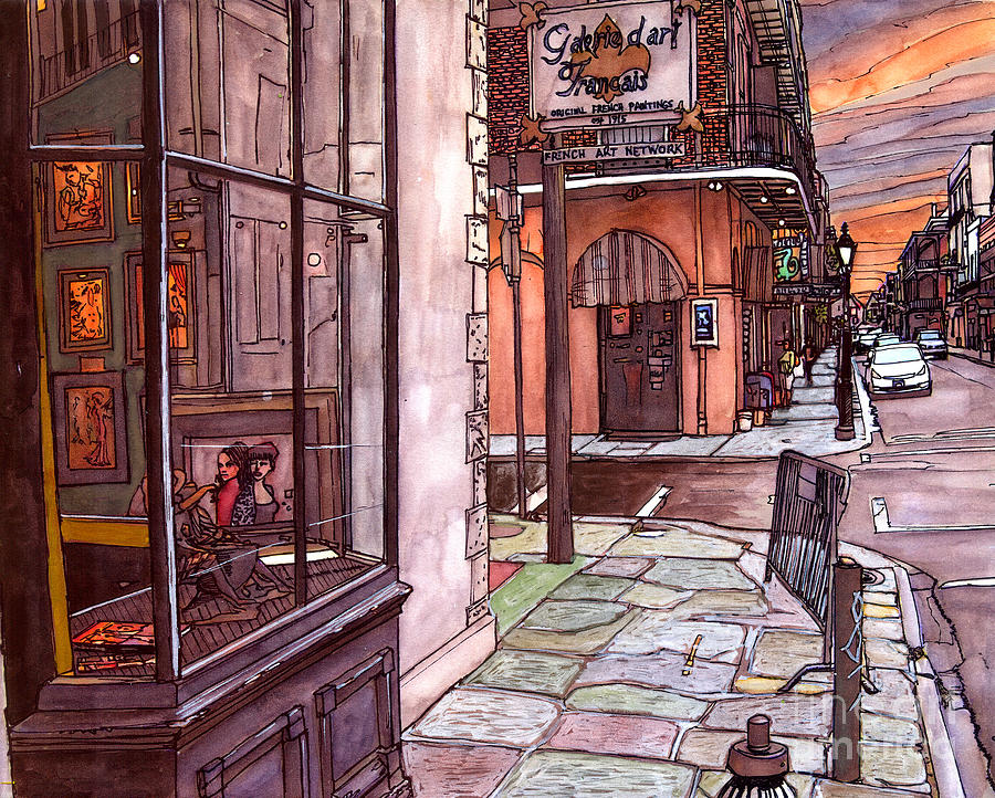 French Quarter Painting - Galerie D Art Francais by John Boles